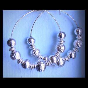 Accessories - Silver Hoop Earrings